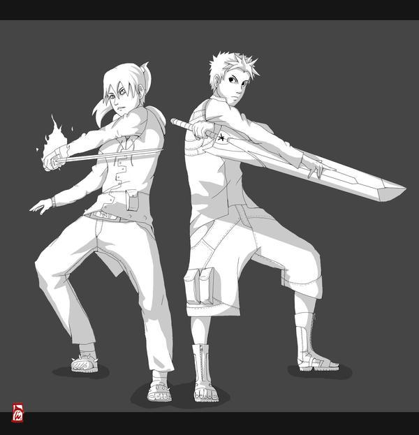 Niogi and Ryo by AxelBlade