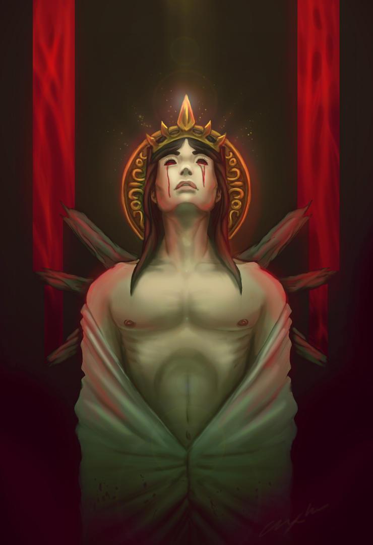 Lucifer Descending by AxelBlade