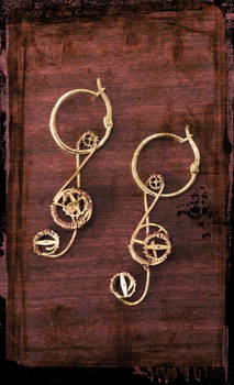 Steampunk Treble Clefs