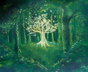 Tree of Light by Charlene-Art
