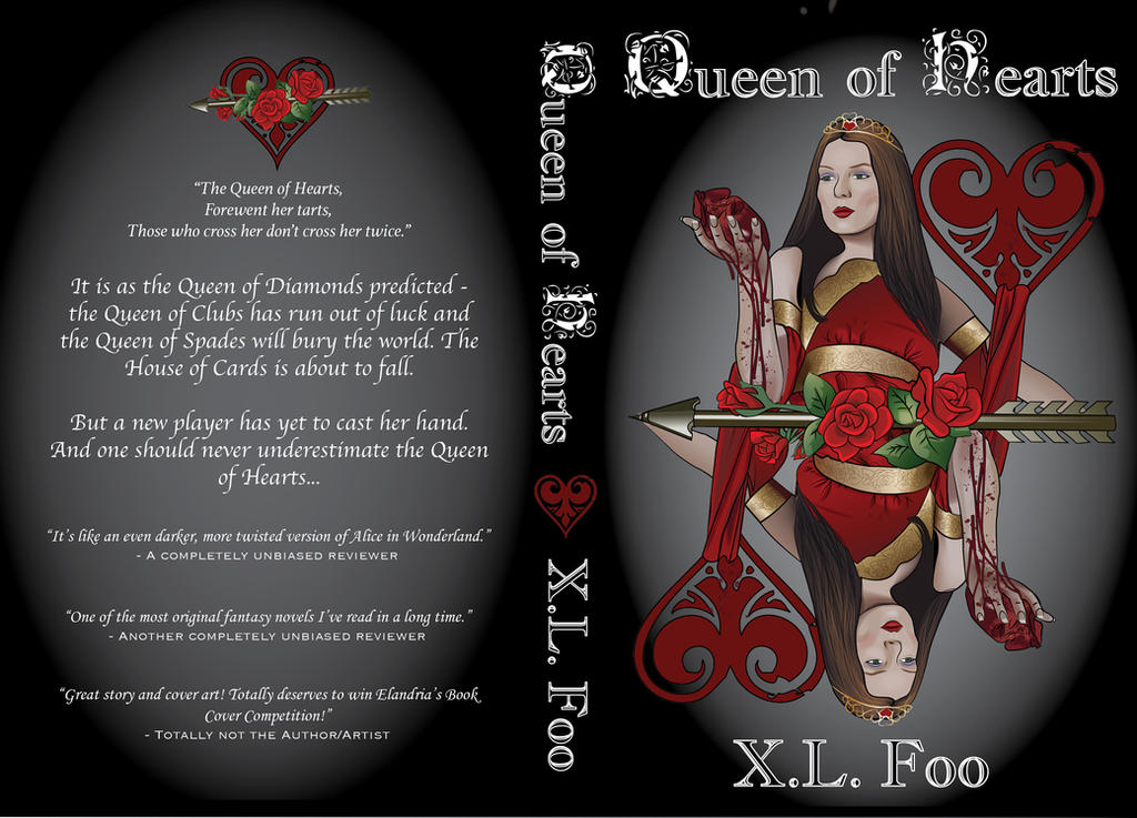 Queen of Hearts Book Cover by CharmyRaven