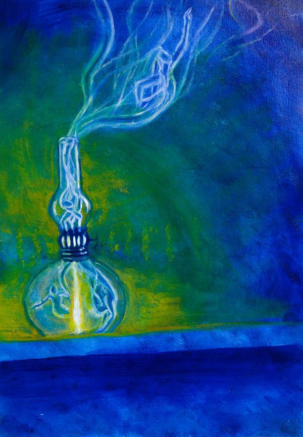 Genie in a bottle 2 wip by Charlene-Art