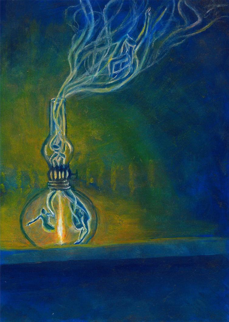 Genie in a bottle by Charlene-Art