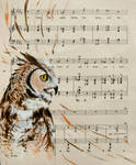 Owl Music by Charlene-Art