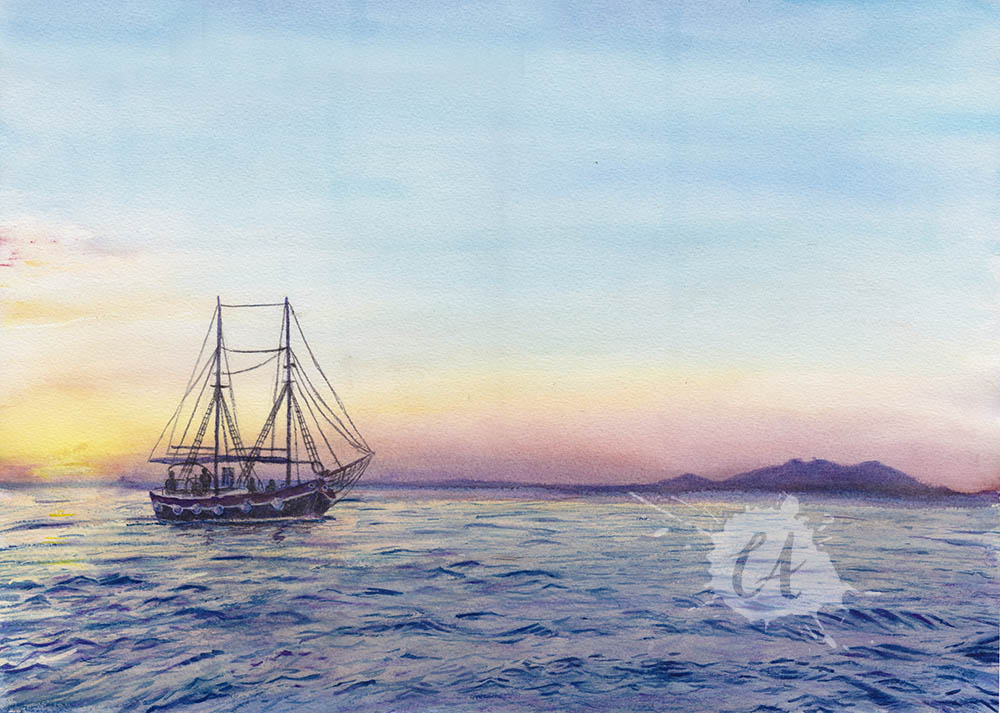 Zadar Coast by Charlene-Art