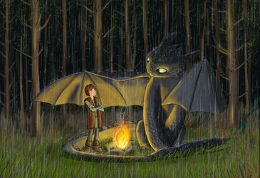 My Neighbour Toothless by Charlene-Art