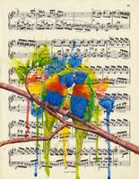 Rainbow Lorikeets by Charlene-Art