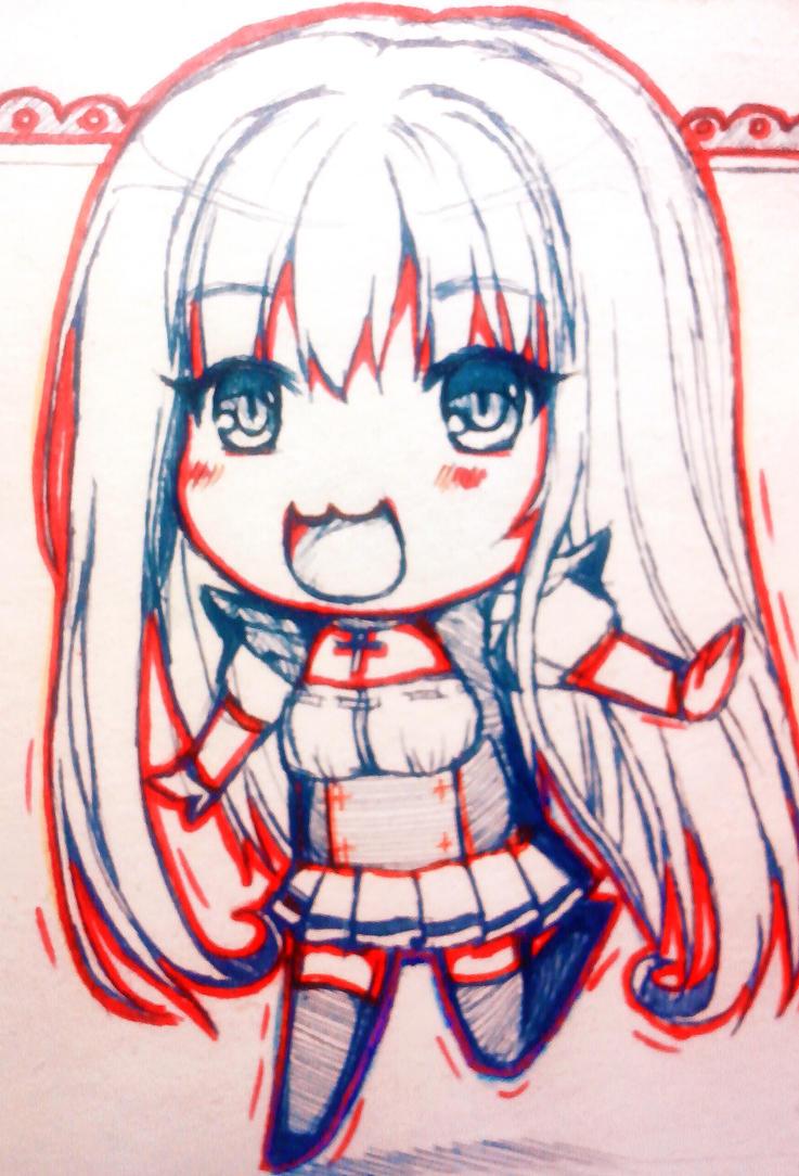 Chibi Art [Red line] by Sayori-Tazura