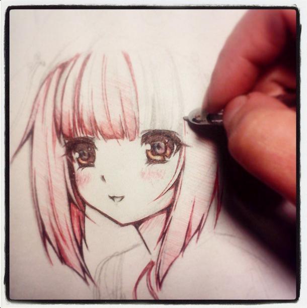 Happy sketch... by Sayori-Tazura