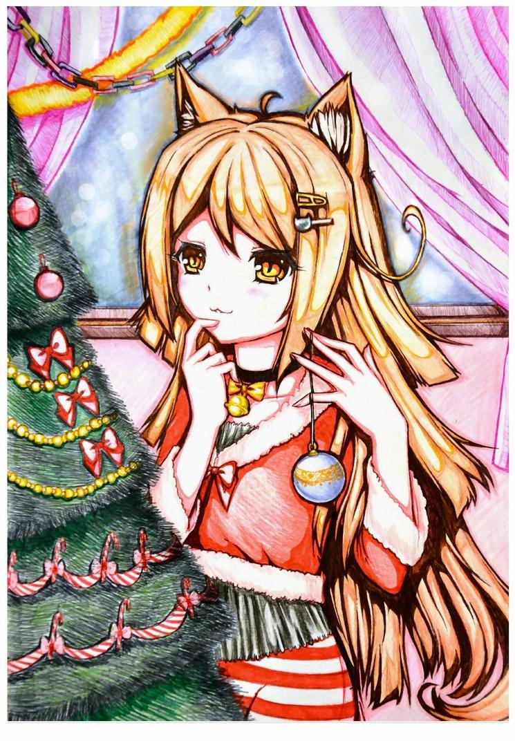 Merry Christmas and Neko-chan! by Sayori-Tazura