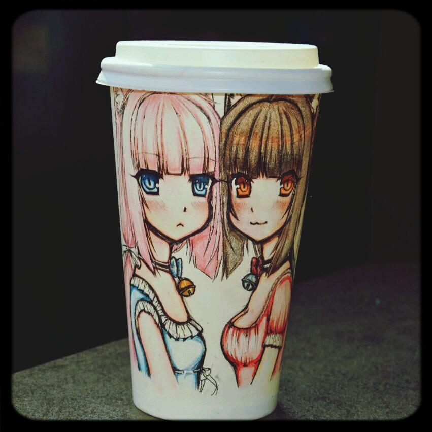 NekoPara CoffeeCup (Chocola and Vanilla) by Seira-Hirano