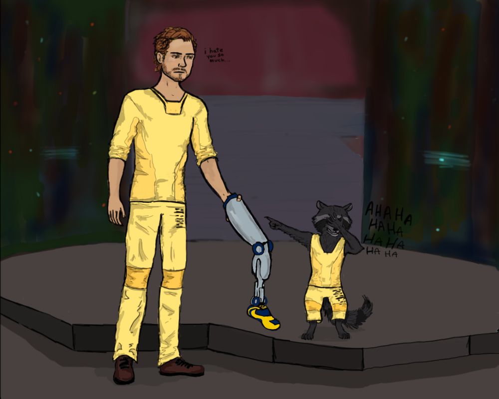 Star Lord and Rocket the Raccoon by noon2midnight