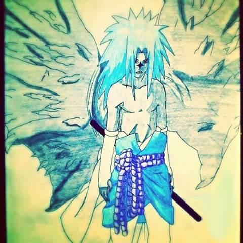Drawing of Sasuke Uchiha by InvisibleIS