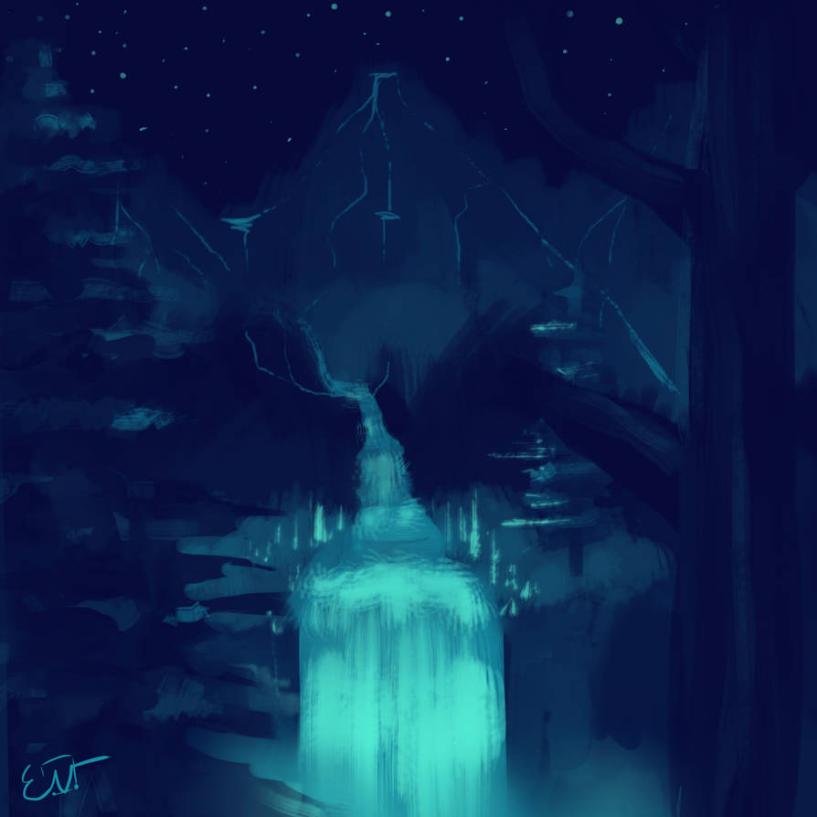 Glowing Rivers by A-Mutt