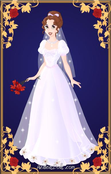 lois in a wedding dress