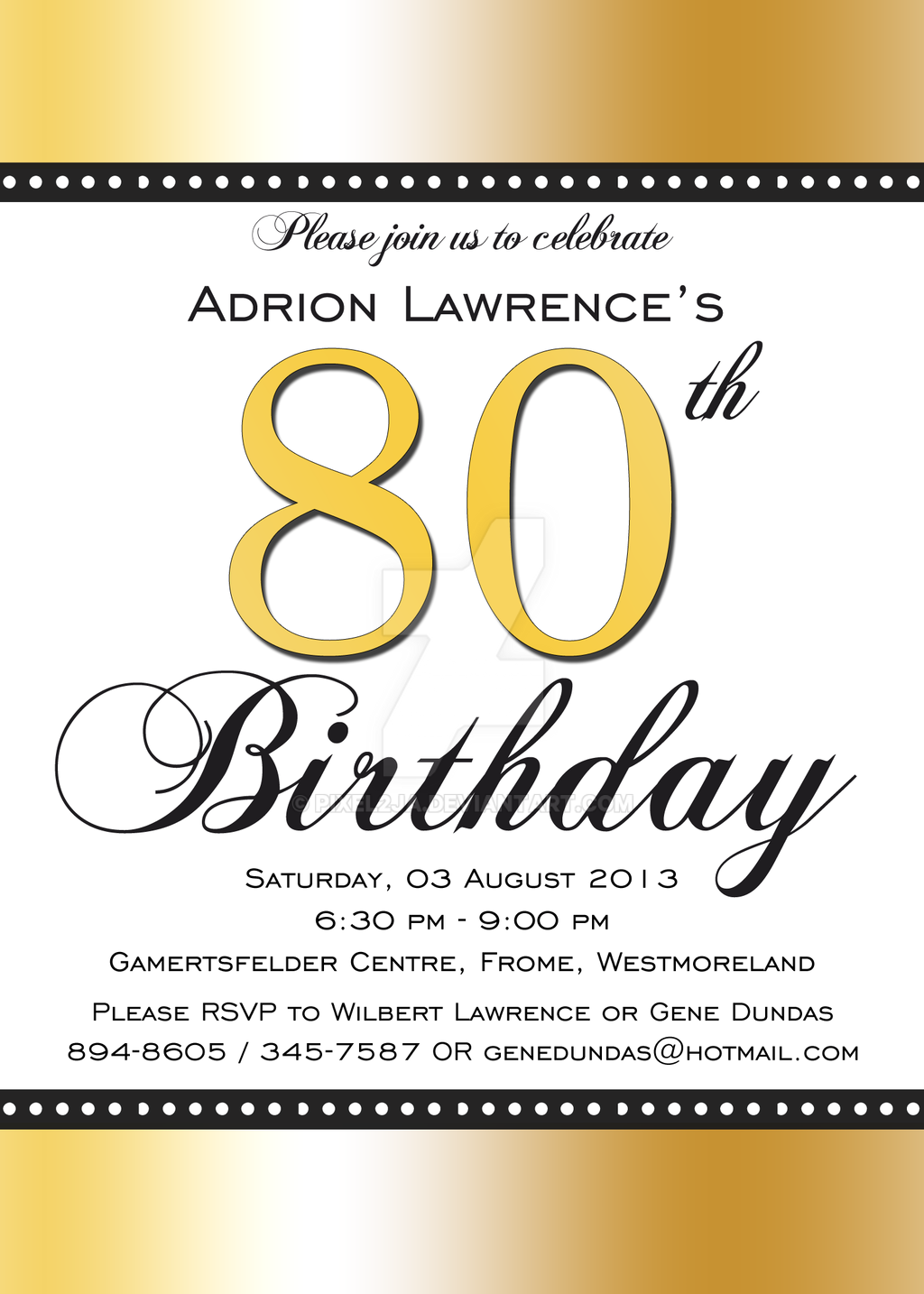 80th birthday invitation front by pixel2ja on deviantart 80th birthday invitation front by pixel2ja filmwisefo Choice Image