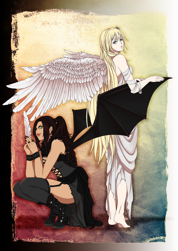 Angel and Devil by Vegigi