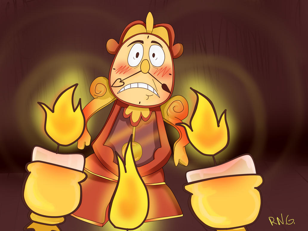 Cogsworth and Lumiere by minarosario