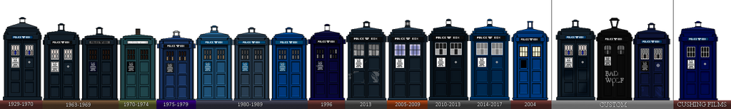 The Tardis [1963-2017] +Non Canon and Custom. by TheBritishTinDog