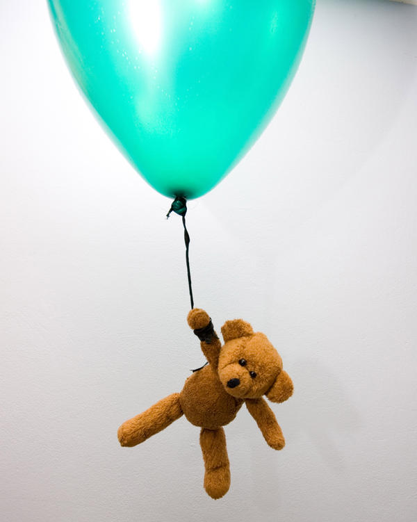 teddy bear flying balloon by doko-stock