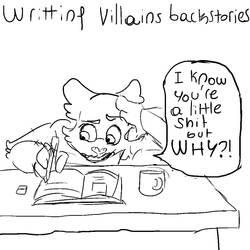 Writting villians