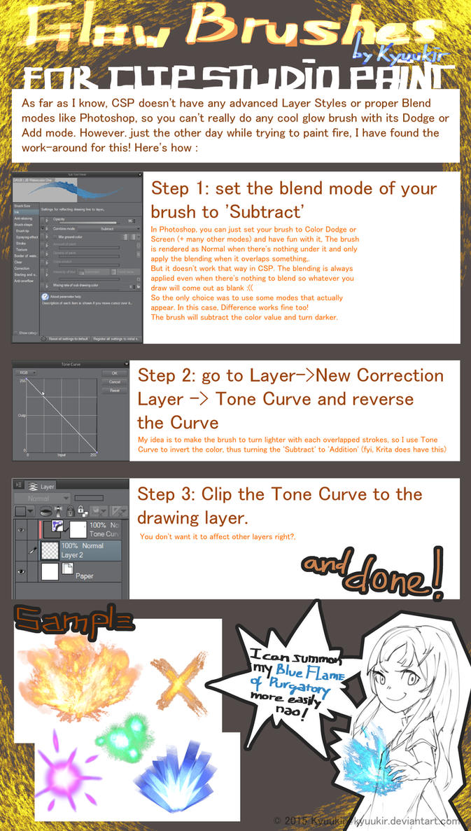Glow brushes tutorial for clip studio paint by nonaneva on deviantart glow brushes tutorial for clip studio paint by nonaneva baditri Images