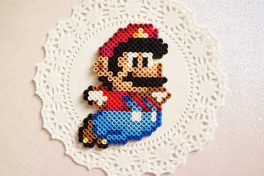 Mario Perler Bead Sprite by knitsandperls