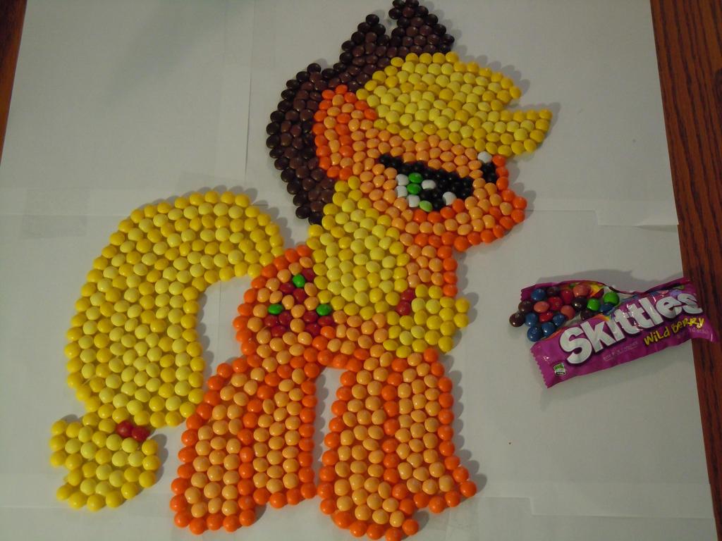 Annoyed Applejack Candyfied by Grudgeholder