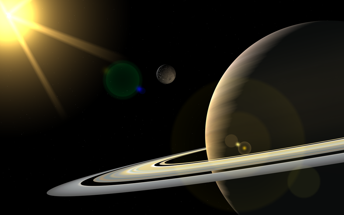 Saturn and Sun by AskYous on DeviantArt View Of The Sun From Saturn