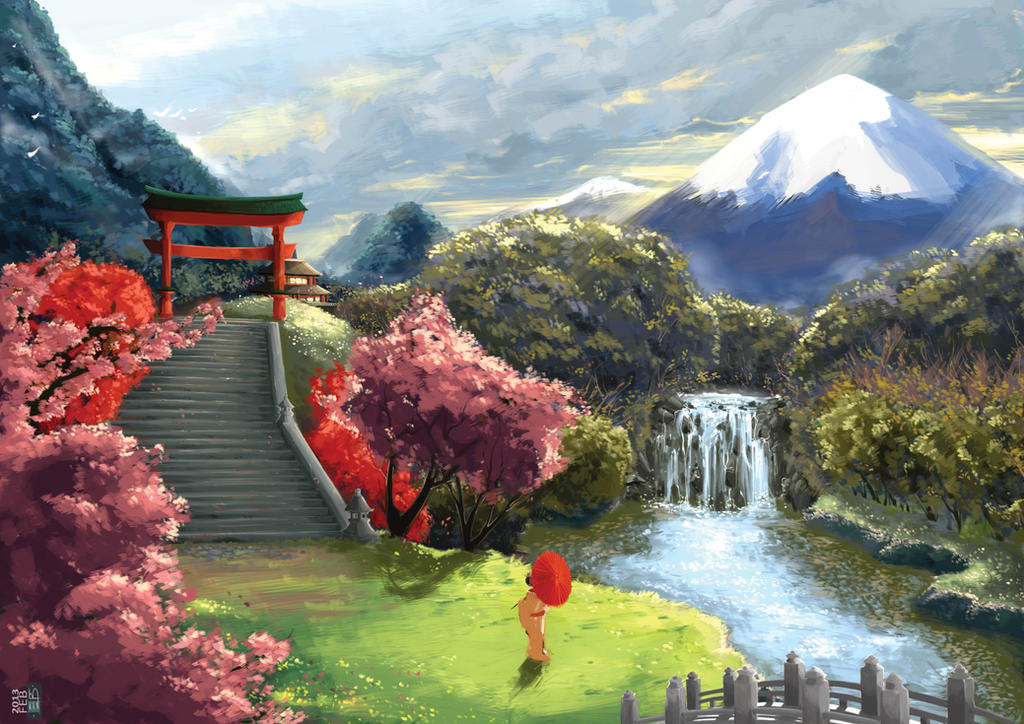 Japanese landscape by vegeravv on deviantart for Tokyo landscape