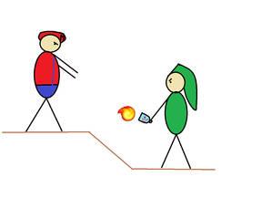 Stickmen 4: Mario vs Link