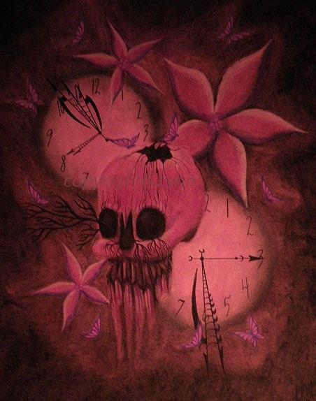 Purple skull by Redcockatiel