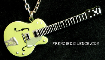 Martin Gore Green Guitar Pendant By Frenziedsilence