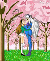 At the Sakura trees by Aimka