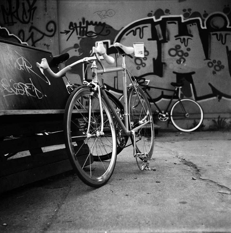Bike in bw by Crypt012