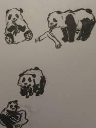 panda zombies by Yukarie-chan11