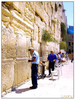 Policeman at The Western Wall by Lisahy