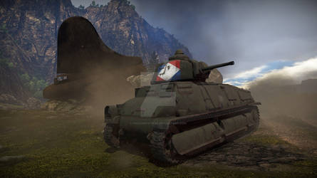 SOMUA S35 (French WWII tank) in the battlefield