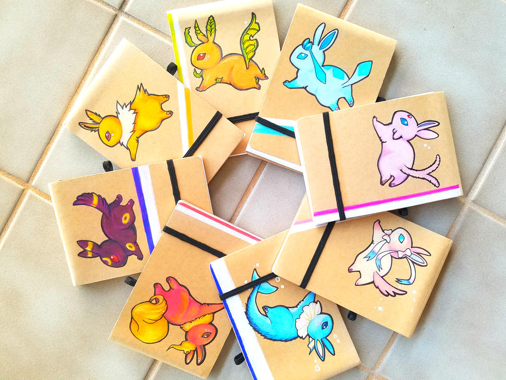 Candy Colored Eeveelution Booklets by PokeShoppe