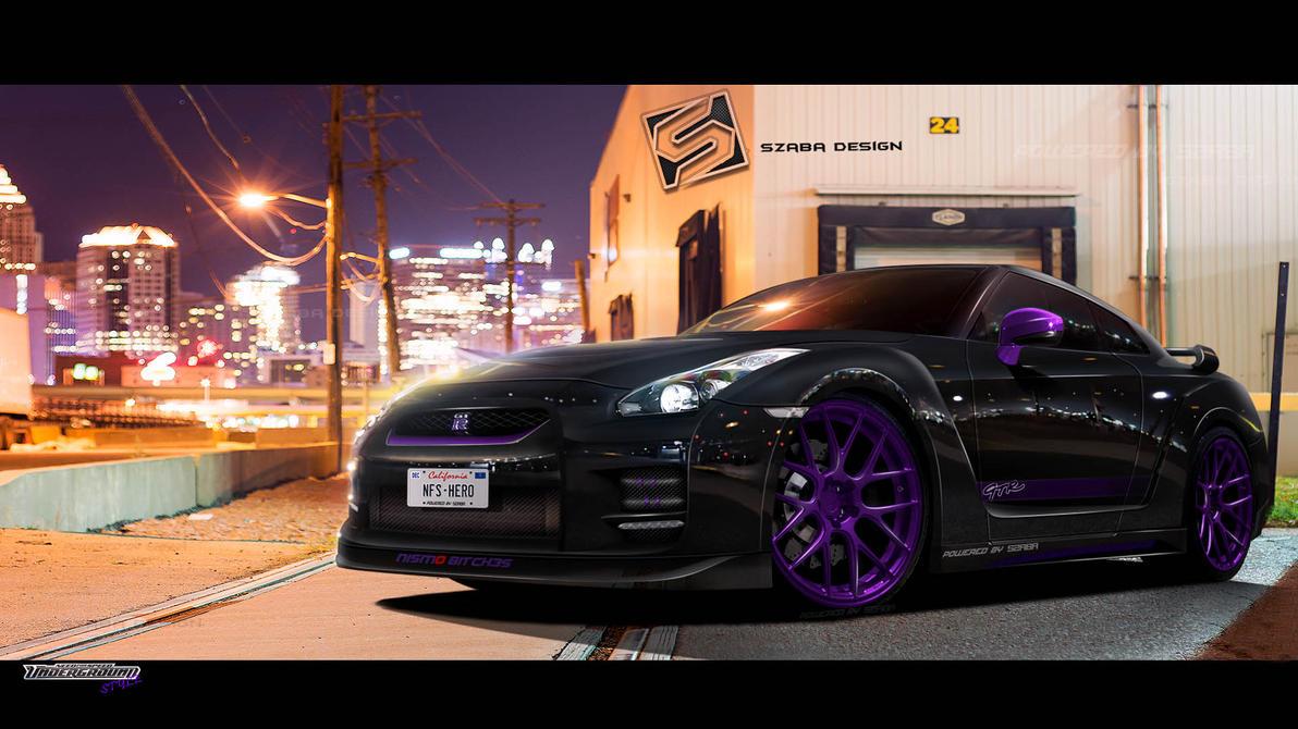 Nissan GT-R Purple Style by Szaba18