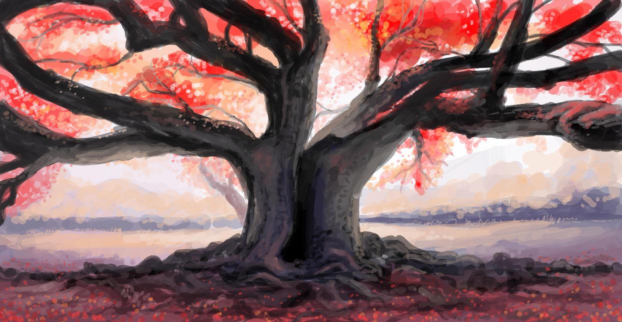 Fire Oak by kalliikak