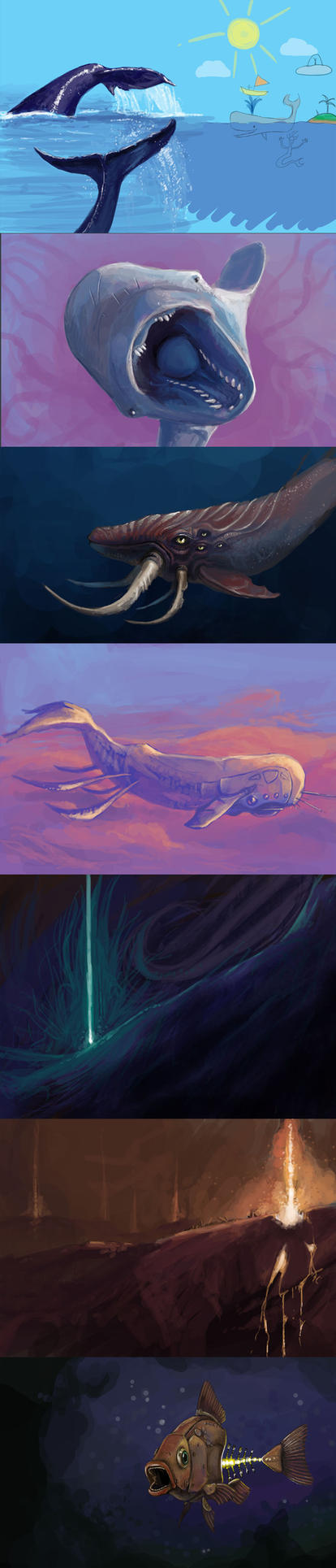 Random Whales And Stuff by kalliikak