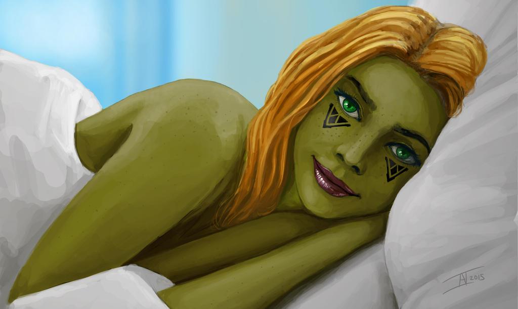 Mirialan in bed by kalliikak