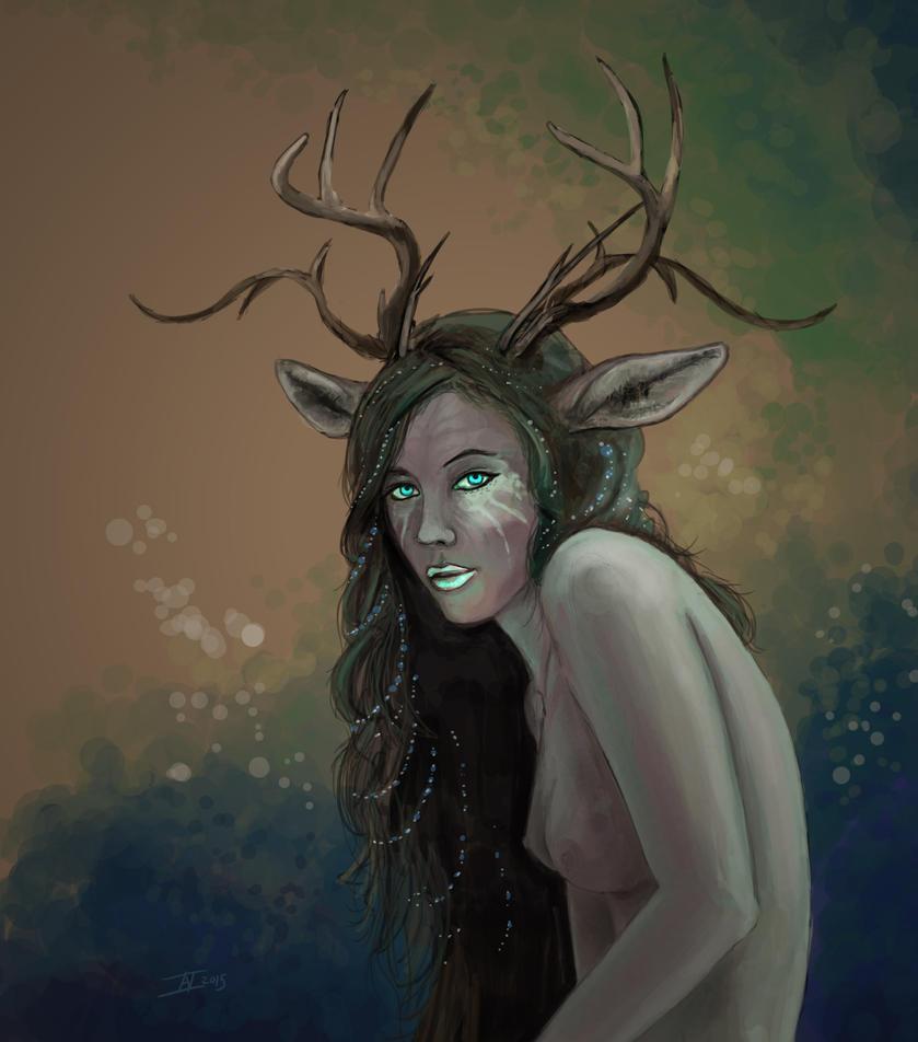 Wood Girl by kalliikak