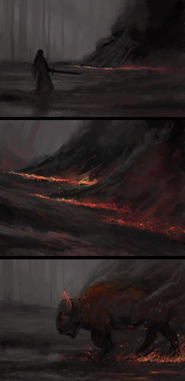 The Creeping Flames by kalliikak