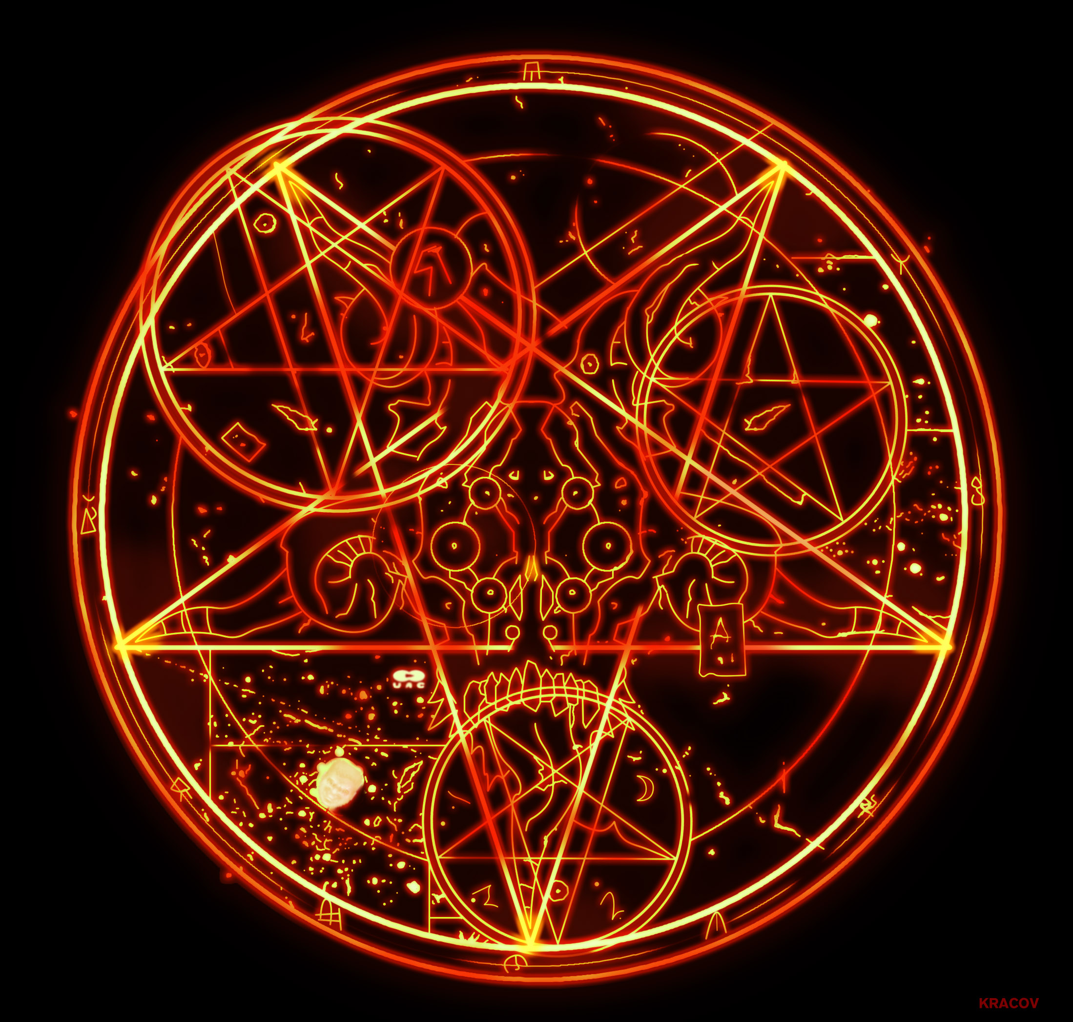 Doom 3 Pentagram Hd By Kracov On Deviantart