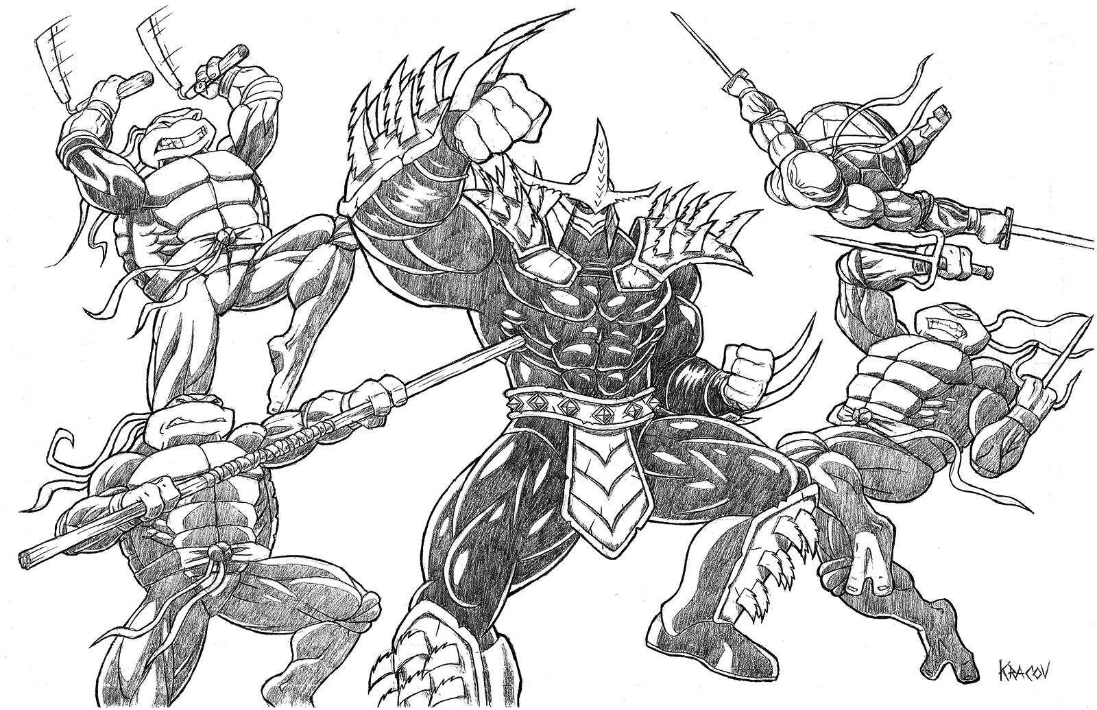Top 25 Free Printable Ninja Turtles Coloring Pages Online | Turtle ... | 1035x1600