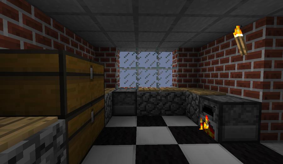 minecraft kitchen by thecleverfoxgirl on deviantart