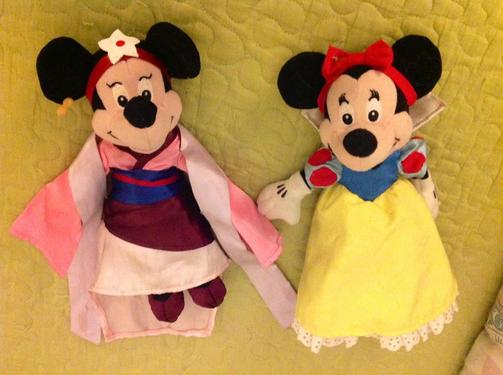 Mulan and Snow White Minnies by firegirl1995