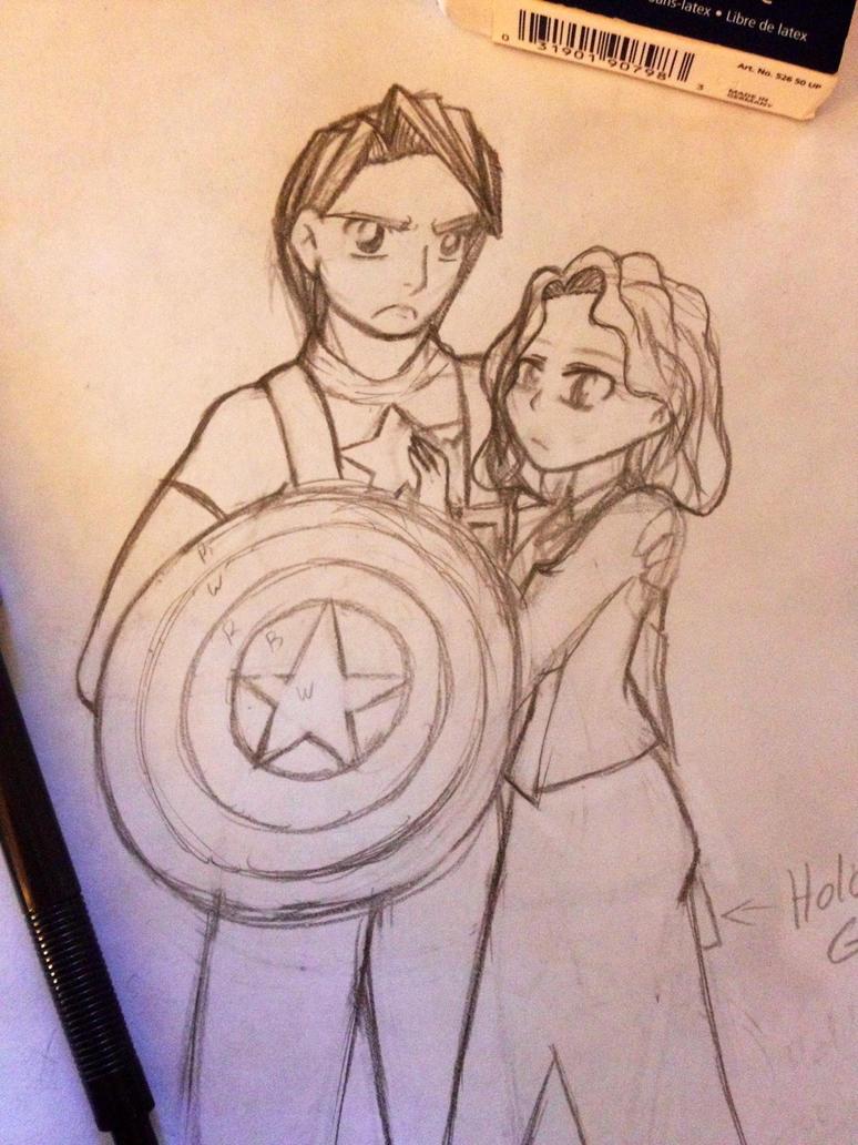 Captain America Sketch by firegirl1995